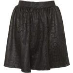 Topshop Black Snake Embossed Skirt