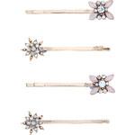 Accessorize 4er-Haarklammer-Packung mit Blumen und Sternen