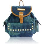 Modrý denimový batoh Anna Smith