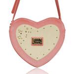 Pudrově růžová kabelka Anna Smith Heart