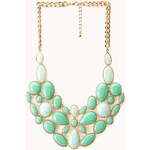 Forever 21 Luxe Faux Stone Bib Necklace