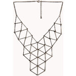 Forever 21 Linked Geo Bib Necklace
