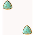 Forever 21 Free Spirit Faux Turquoise Studs