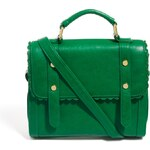 ASOS Satchel Bag With Scallop Trim And Front Studs