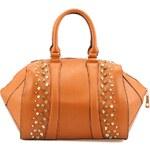 Oranžová kabelka Gessy s ozdobnými cvočky