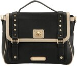 Černá kabelka Anna Smith s přezkami