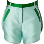 Ostwald Helgason Patchworked Shorts with Silk Trim