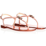 Giuseppe Zanotti Leather Sandals with Jewel Detail