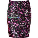Preen by Thornton Bregazzi Wool Blend Mille-Fleur Print Skirt