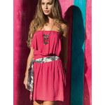 Letní šaty bez ramínek PHAX korálově červené XL
