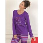 Dámské pyžamo CTM STYLE Designed fialové XL