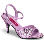 Pleaser Kitten-35G fialové sandálky na podpatku 35 (US 5)