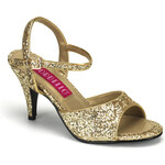 Pleaser Kitten-35G zlaté sandálky na podpatku 35 (US 5)