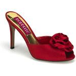 Pleaser Rosa-01 červené pantofle na podpatku 35 (US 5)
