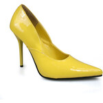 Milan-01 žluté lodičky Pleaser na podpatku 35 (US 5)
