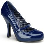Pin Up Couture Cutiepie-02 modré lodičky 35 (US 5)