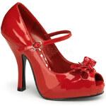 Pin Up Couture Cutiepie-08 červené lodičky Pleaser 35 (US 5)