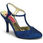 Violette 12G modré sandálky Pleaser 36 (US 6)