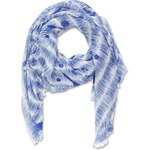 s.Oliver Fringed scarf with blotches