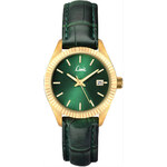 Topshop **Limit Green and Gold Strap Watch