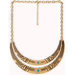 Forever 21 Globetrotter Curved Bib Necklace