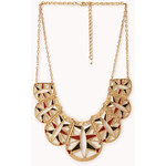 Forever 21 Cutout Scalloped Bib Necklace