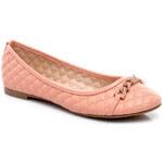 FOREVER FOLIE Půvabné růžové baleríny s prošívaným vzorem - 1086P