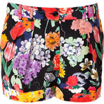 Moschino Silk Floral Print Shorts