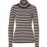 Bouchra Jarrar Striped Wool-Alpaca Turtleneck Pullover