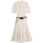 Valentino Cotton Crochet Dress with Floral Belt