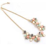 Romantický a elegantní náhrdelník s barevnými květy