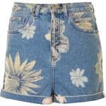 Topshop MOTO Mix Floral Mom Shorts