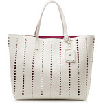 Jil Sander Ibiza Large Leather Tote with Cut-Out Detail