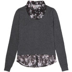 Tally Weijl Grey Top & Floral Blouse Combo