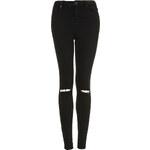Topshop PETITE MOTO Black Ripped Jamie Jeans