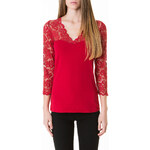 Tally Weijl Red Lace Longsleeve Top