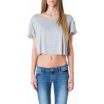 Tally Weijl Grey Oversized Crop Top