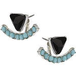 Topshop Back to Front Rhinestone Earring