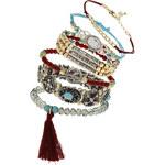 Topshop Beaded Tassel Bracelet Pack