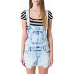 Tally Weijl Acid Wash Denim Short Dungaree's
