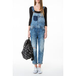 Tally Weijl Blue Patchwork Jean Dungaree's
