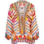 Camilla Silk Laced Front Manta Tunic Top