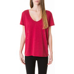 Tally Weijl Red Lace Back Short Sleeve Top