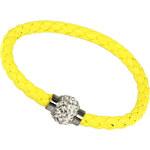 TopMode Žlutý náramek na magnet s kamínky