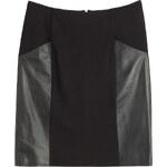 Steffen Schraut Leather Paneled Skirt
