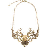 ROMWE Deer Head Golden Necklace