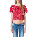 Tally Weijl Red Paisley Print Roll-Up Sleeve Top