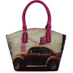 Mahel Stylová retro kabelka na rameno A9168-1A růžová - dle obrázku