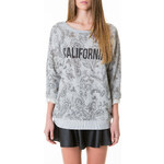 "Tally Weijl Grey ""California"" Paisley Print Sweater"