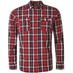 Lee Cooper C LS Check Shirt Sn51 Red/Blk/Wht XS
